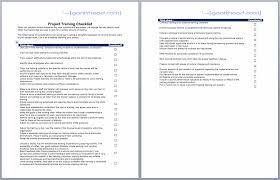 Projectmanagement Com Project Training Checklist
