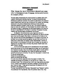 discuss the role of the witches in macbeth your essay refer to  page 1 zoom in
