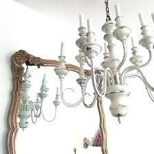 distressed white chandelier wood chandeliers medium size of antique vintage