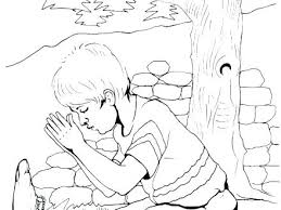 Child Praying Coloring Page Lds Forgiveness Pages Prayer Stockware