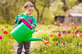 Image result for watering flowers