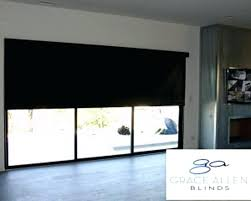 roller shade on door blinds for sliding glass doors window treatments large