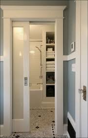 sliding bathroom doors. Fantastic Bathroom Boasts A Frosted Glass Water Closet Door With Dimensions 736 X 1144 Sliding Doors