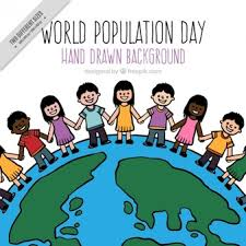 Background Of World Population Day With People Vector Free