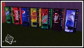 Sims 4 Vending Machine Simple Vending Machine Recolors 4888T488 At Sims Modern Technology Sims 488 Updates