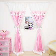 elegant bedroom curtains. Plain Curtains Elegant Pink Gingham Print Girls Bedroom Curtains Fashion Korean Ruffled  Set Princess Window With