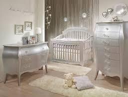 Natart Alexa 3 Piece Nursery Set in Silver Crib 3 Drawer