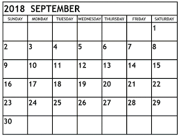 September 2018 Printable Calendar | Printable 2018 Calendar ...
