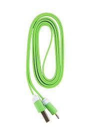 <b>Кабель</b> USB-Lightning 8-pin, <b>Red Line</b>, 1m, зеленый, <b>плоский</b>