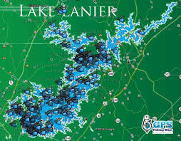 Lake Lanier Fishing Spots Map Gps Fishing Spots For Bass