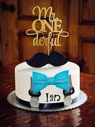 Jual Jevenis Glittery Mr Onederful Cake Topper 1st Birthday Cake
