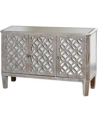 distressed mirrored furniture. Distressed Wood Dresser With Mirrored Accents And Three Doors Flanked By Filigree - Grey Stylecraft Furniture