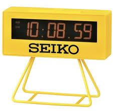 seiko digital alarm clock yellow qhl062y