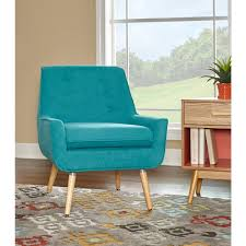 Teal Accent Home Decor Linon Home Decor Trelis Bright Blue Microfiber Arm Chair 59