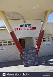 Menu Outside A Restaurant Cite De La Joie In Toliara Aka Toliary
