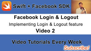 facebook login logout button. Facebook Login And Logout Button Example With Swift