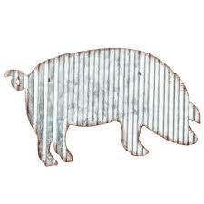 country farmhouse pig wall decor sign