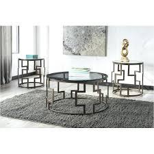 furniture dark bronze finish living room occasional table set ashley glendale home