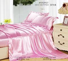 pink silk satin bedding set king size