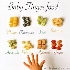 Baby Development Fruit Chart Baby Finger Food Chart Kids Food