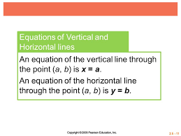 equations of vertical and horizontal lines