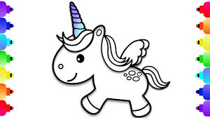 Unique Baby Unicorn Coloring Pages How To Draw A For Kids