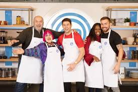 Masterchef Elimination Chart Celebrity Masterchefs Andy Grant Is First Star To Get