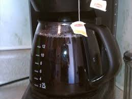 Pour 1 gallon of water in coffee pot and place over open flame or burner and. How To Brew Fresh Iced Tea At Home With A Drip Coffee Pot Delishably