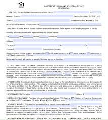 Home Sales Agreement Template Real Estate Sales Contract Template ...