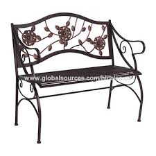 metal garden bench outdoor double seat