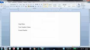 How To Make It Mla Format On Word How To Set Up Mla Format In Word