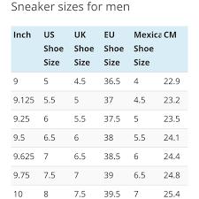 Nike Com Shoe Size Chart Nike Shoe Size Chart For Daveyjone624 Depop