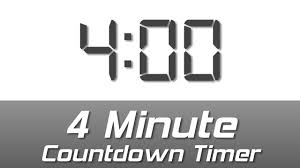 Timer 4 Min 4 Min Simple White Digital Clock Countdown Timer With Ending Bell