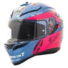 Agv K3 Sv Guy Martin Motorcycle Sport Helmet In Pink Blue