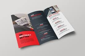 brochure brochure cincinnati corporate creative tri fold brochure 001704 template