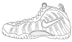 Jordan Shoes Coloring Pages With X To Produce Cool Free Printable