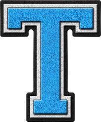 Blue Letters T Etc Home Alphabets Varsity Letters Light Blue Letter