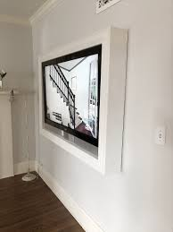 Television Frame Design Five Steps To Build A Frame For A Wall Mounted Tv