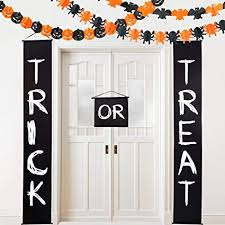 See more ideas about halloween decorations, halloween bats on the wall! Amazon Com Halloween Party Decoration Trick Or Treat Banner Halloween Paper Chain For Home Halloween Wall Decoration Paper Garlands Pumpkin Spider Bat Shape Halloween Backdrop Photo Props Toys Games