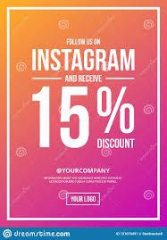 Poster Design Instagram Follow Us On Instagram Sign Poster Stock Vector