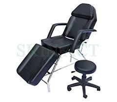 massage table and chair. Basic Facial Chair With Free Stool, Bed, Massage Table (black) And