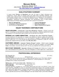 Restaurant District Manager Resume The Letter Sample