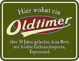 Blechschild Oldtimer 50 Jahre Fünfzig Runder Geburtstag Spruch