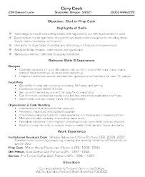 Resume For Cooks Adorable Line Cook Cover Letter Resume Line Cook Cover Letter No Experience