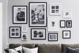 picture frames enhance the room decor
