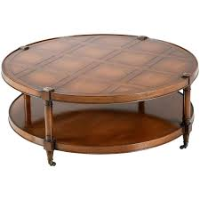 round table conference unique heritage mahogany round coffee table on casters