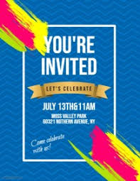 invitation flyer 3 680 customizable design templates for invitation postermywall