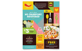 Flyer Design Food Mexican Food Cantina Flyer Template Design