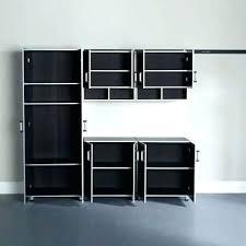 rubbermaid wall cabinet garage wall system garage garage laminate 5 piece cabinet set in black silver
