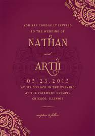 Mehndi Invitations In Purple Wedding Invite Wedding Invitations